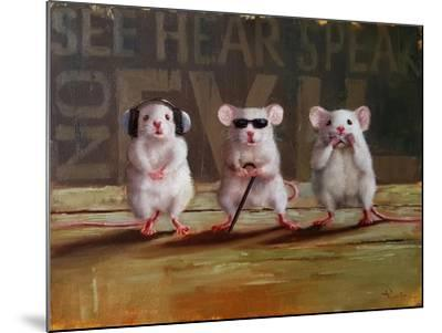 Three Wise Mice-Lucia Heffernan-Mounted Art Print