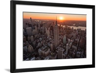 Empire Flight Sun Burst-Bruce Getty-Framed Photographic Print