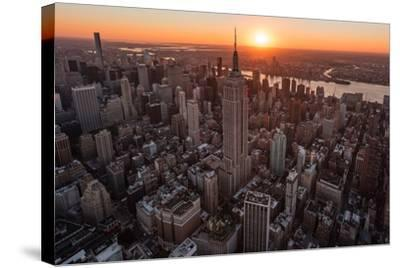 Empire Flight Sun Burst-Bruce Getty-Stretched Canvas Print
