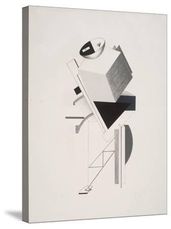 Victory Over the Sun, 3. Sentry-El Lissitzky-Stretched Canvas Print