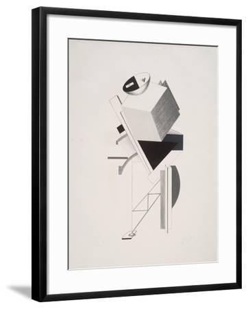 Victory Over the Sun, 3. Sentry-El Lissitzky-Framed Giclee Print