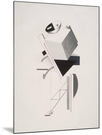 Victory Over the Sun, 3. Sentry-El Lissitzky-Mounted Giclee Print
