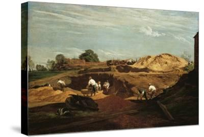 Kensington Gravel Pits-John Linnell-Stretched Canvas Print