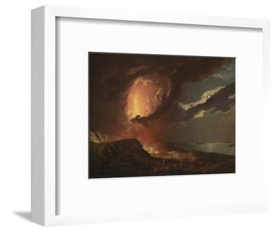 Vesuvius in Eruption, with a View over the Islands in the Bay of Naples-Joseph Wright of Derby-Framed Giclee Print