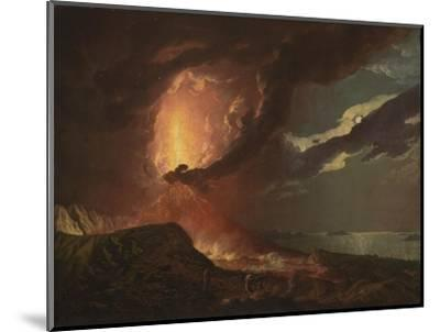 Vesuvius in Eruption, with a View over the Islands in the Bay of Naples-Joseph Wright of Derby-Mounted Giclee Print