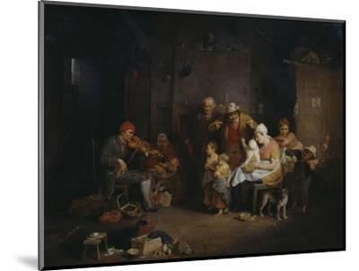 The Blind Fiddler-Sir David Wilkie-Mounted Giclee Print