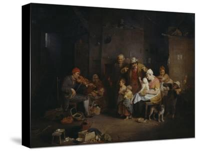 The Blind Fiddler-Sir David Wilkie-Stretched Canvas Print