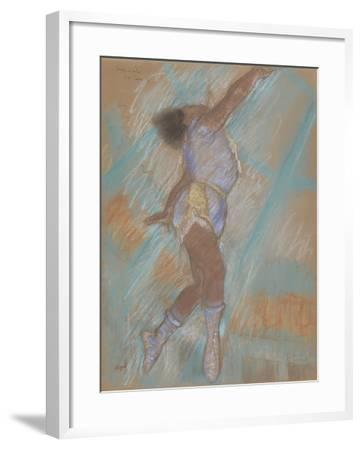 Miss Lala at the Cirque Fernando-Edgar Degas-Framed Giclee Print