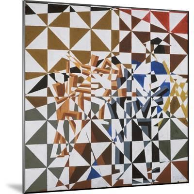 Ju-Jitsu-David Bomberg-Mounted Premium Giclee Print