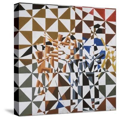 Ju-Jitsu-David Bomberg-Stretched Canvas Print