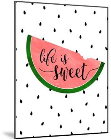 Life is Sweet - Watermelon-Anna Quach-Mounted Art Print