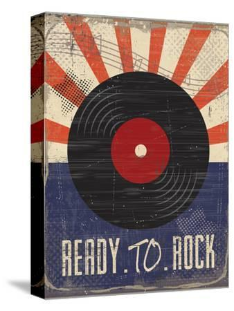 Ready to Rock-ND Art-Stretched Canvas Print