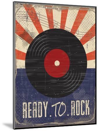 Ready to Rock-ND Art-Mounted Premium Giclee Print