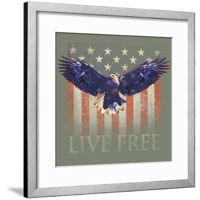 Live Free-Jim Baldwin-Framed Art Print