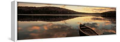 Water and Boat, Maine, New Hampshire Border, USA--Framed Stretched Canvas Print