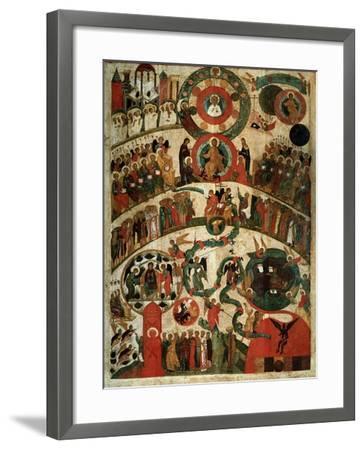 Last Judgement, Novgorod Icon-Russian School-Framed Giclee Print