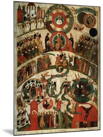Last Judgement, Novgorod Icon-Russian School-Mounted Giclee Print