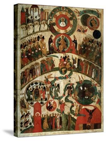 Last Judgement, Novgorod Icon-Russian School-Stretched Canvas Print