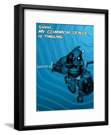 Deadpool - Common Sense--Framed Art Print