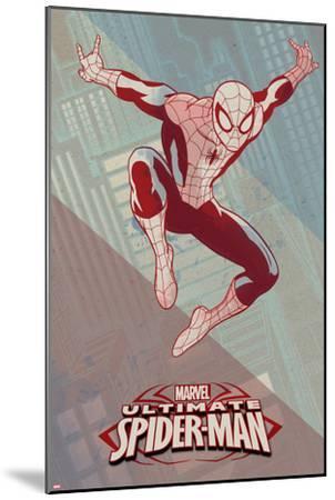 Ultimate Spider-Man Art Deco--Mounted Art Print