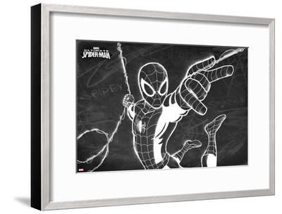 Ultimate Spider-Man Chalkboard--Framed Art Print