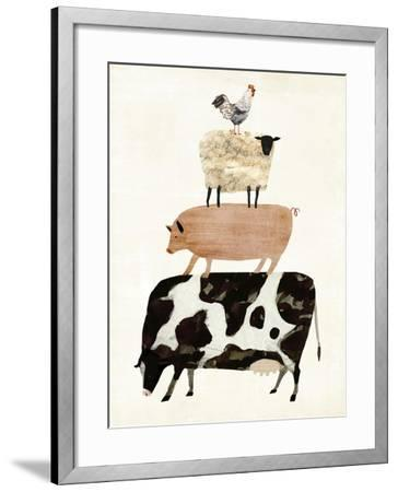 Barnyard Buds III-Victoria Borges-Framed Art Print