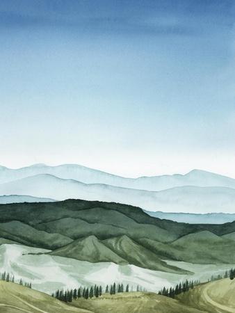 Crystal Landscape II-Grace Popp-Framed Art Print