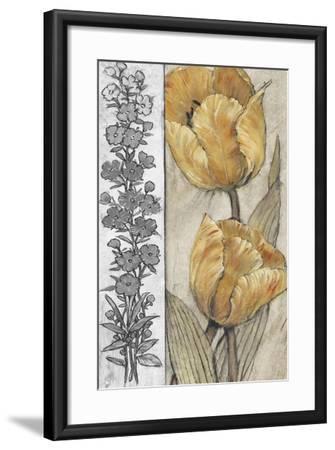 Ochre & Grey Tulips IV-Tim O'toole-Framed Premium Giclee Print
