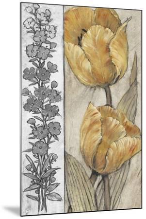 Ochre & Grey Tulips IV-Tim O'toole-Mounted Premium Giclee Print
