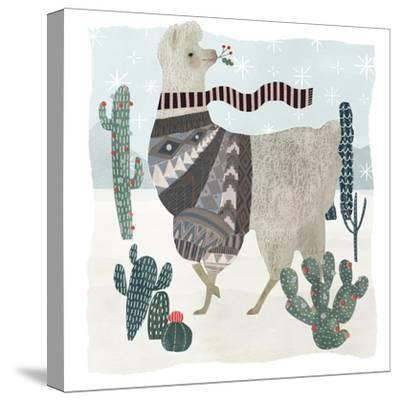 Holiday Llama I-Victoria Borges-Stretched Canvas Print