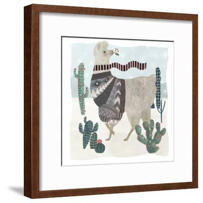 Holiday Llama I-Victoria Borges-Framed Art Print