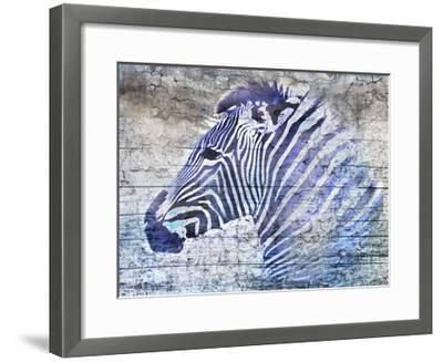 Purple Zebra-Surma & Guillen-Framed Art Print