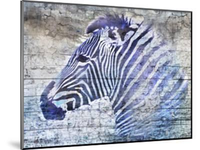 Purple Zebra-Surma & Guillen-Mounted Art Print