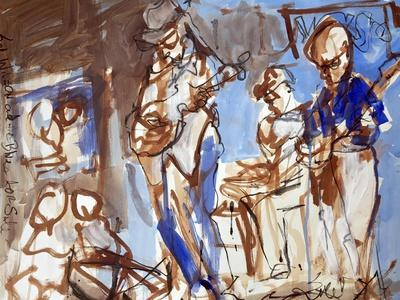 New Orleans Musicians II-Erin McGee Ferrell-Stretched Canvas Print