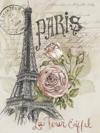 Paris Sketchbook I-Jennifer Paxton Parker-Framed Premium Giclee Print