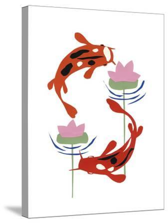 Koi Fantasy II-Alicia Ludwig-Stretched Canvas Print