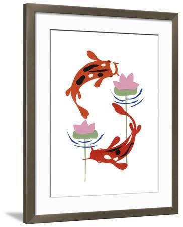 Koi Fantasy II-Alicia Ludwig-Framed Art Print