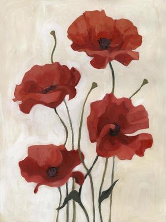 Poppy Bouquet III-Emma Scarvey-Framed Art Print
