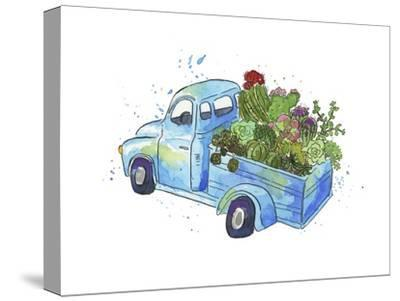 Flower Truck I-Catherine McGuire-Stretched Canvas Print