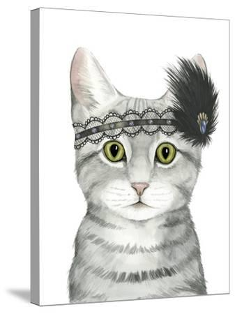 Downton Cat III-Grace Popp-Stretched Canvas Print