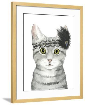 Downton Cat III-Grace Popp-Framed Art Print