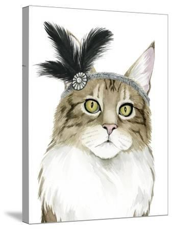 Downton Cat IV-Grace Popp-Stretched Canvas Print