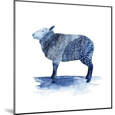 Cobalt Farm Animals III-Grace Popp-Mounted Art Print