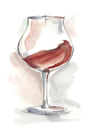 Wine Glass Study III-Ethan Harper-Stretched Canvas Print