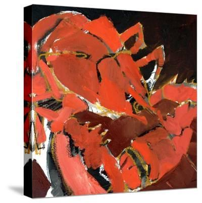 Abstract Lobster V-Erin McGee Ferrell-Stretched Canvas Print