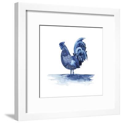 Cobalt Farm Animals IV-Grace Popp-Framed Art Print