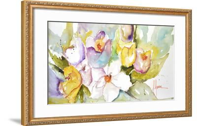 Horizontal Flores IV-Leticia Herrera-Framed Premium Giclee Print