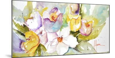 Horizontal Flores IV-Leticia Herrera-Mounted Premium Giclee Print
