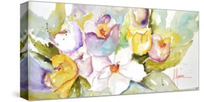 Horizontal Flores IV-Leticia Herrera-Stretched Canvas Print