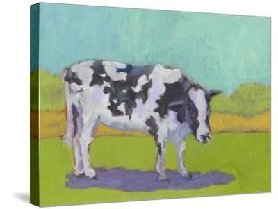 Pasture Cow I-Carol Young-Stretched Canvas Print